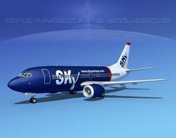 Boeing 737-300 Sky Europe 3D model