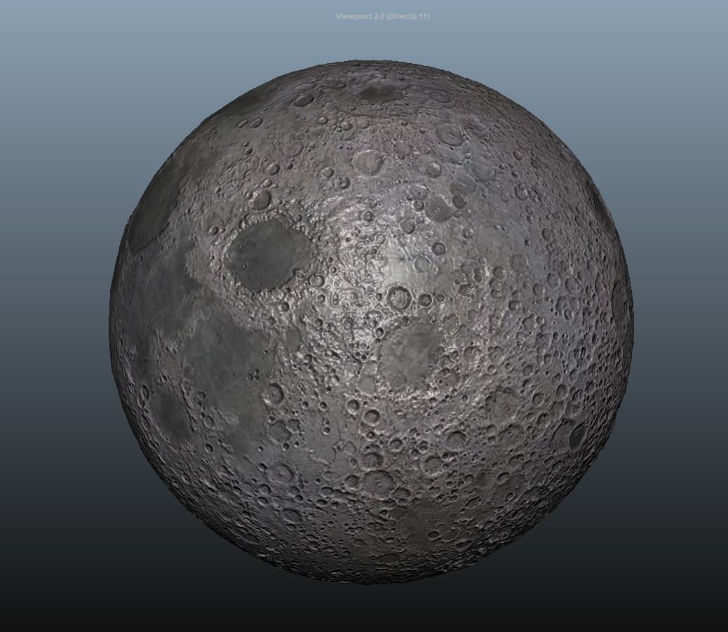 3D Model Moon Planet