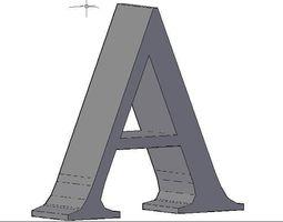 3D model Alphabet
