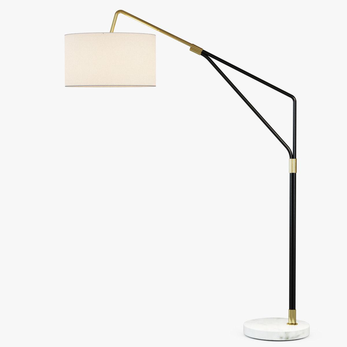 Mid Century Overarching Floor Lamp Model