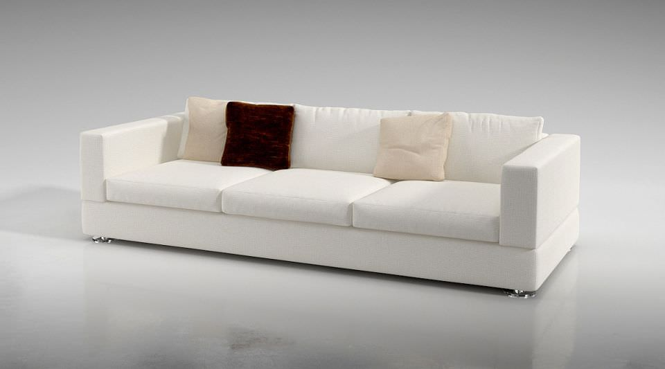 Long White Modern Sofa | 3D model