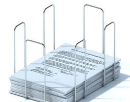 3d metal desk paper organizer
