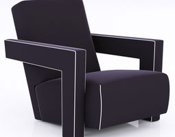 3D Pair of Gerrit Thomas Rietveld Chairs