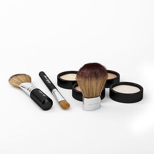 makeup set 3d model obj. Black Bedroom Furniture Sets. Home Design Ideas