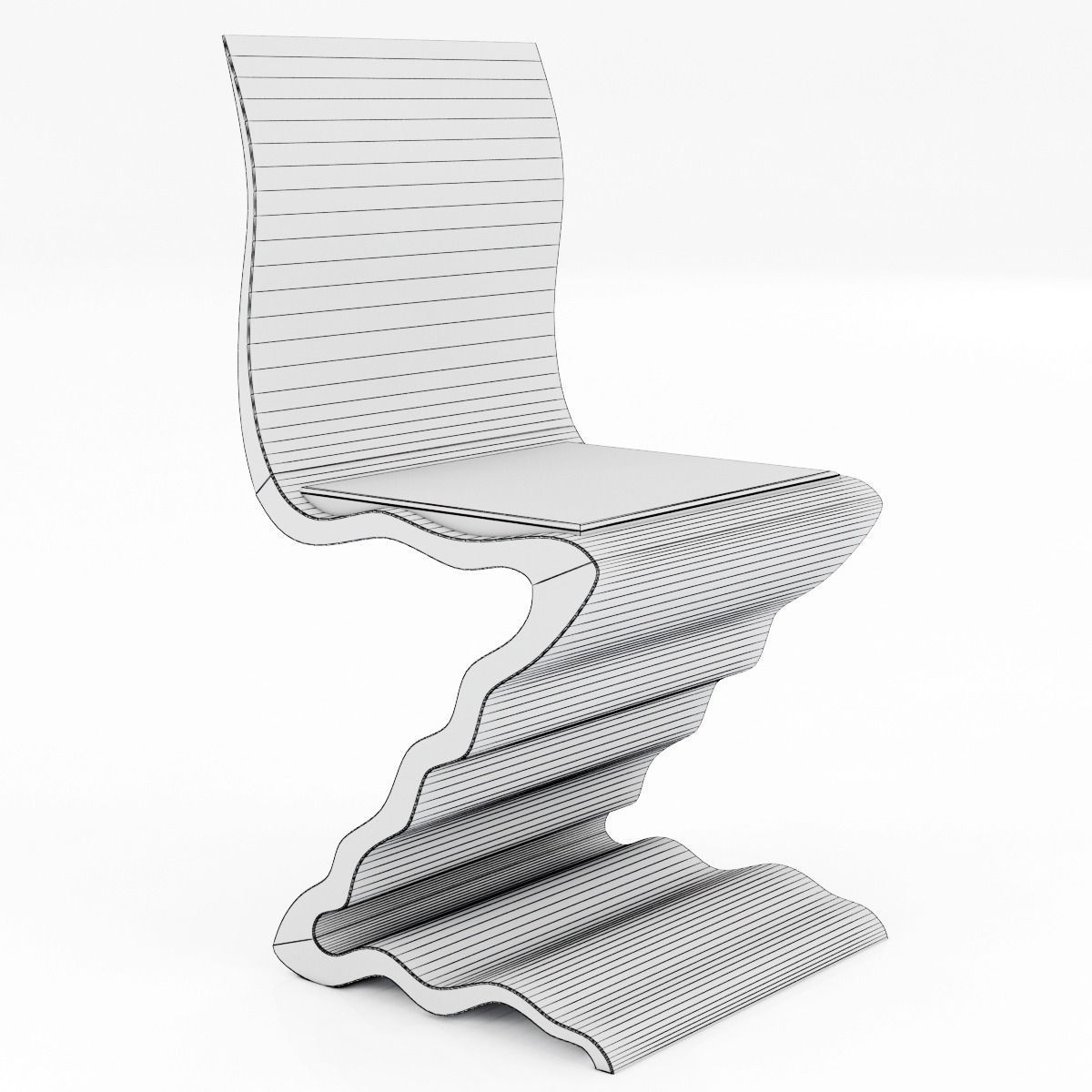 ... zig zag chair 788 by garry knox bennett 3d model max obj 3ds fbx mtl 5  sc 1 st  CGTrader & 3D Zig Zag Chair 788 by Garry Knox Bennett | CGTrader