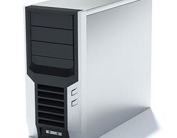 Black And White Computer Box 3D Model