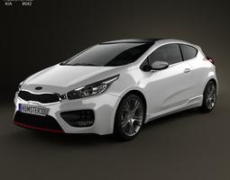 3D model Kia Pro Ceed GT 2014