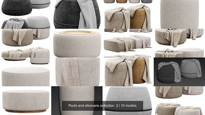 Poufs and ottomans collection  2