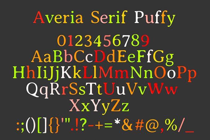 averia serif candy 3d model max obj mtl fbx lwo lw lws dae 1