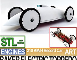 record car baker electric torpedo 1902 stl printable