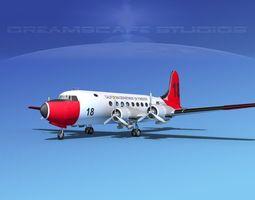 Douglas DC-4 CDF 3D