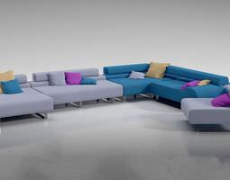 3d model large sectional sofa