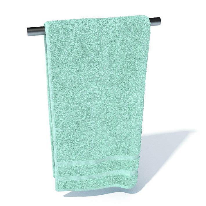 hand towel. Bathroom Hand Towel 3d Model 1 Bathroom Hand Towel 3D  CGTrader
