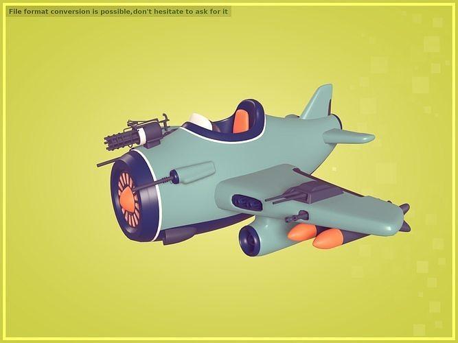 Cartoon Military Plane
