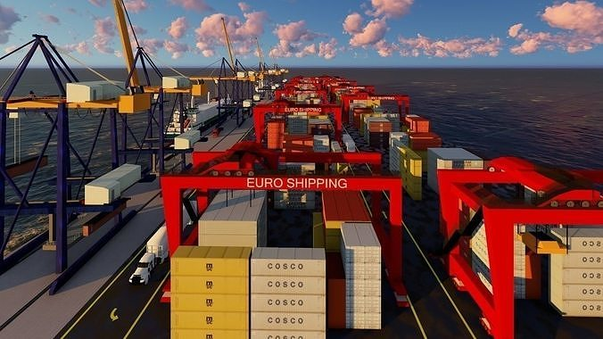 3D Harbour Logistics model