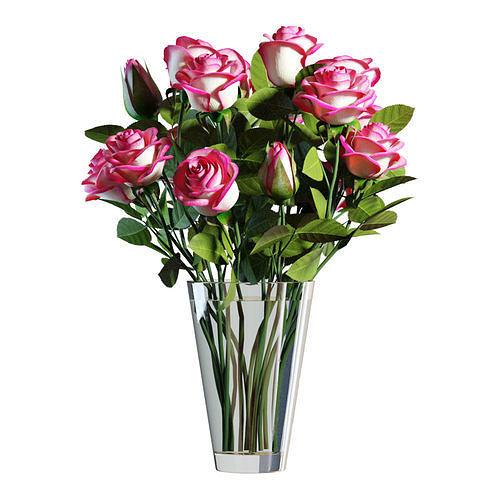 Flower Set 06 - Pink Roses Bouquet