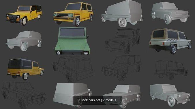 Greek cars set