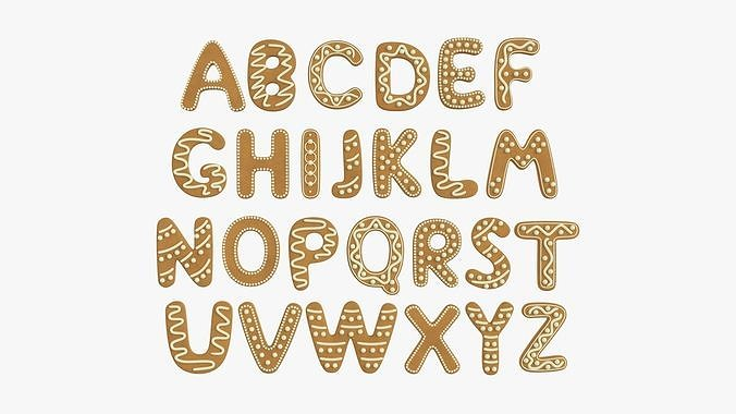 Decorated alphabet letters 02