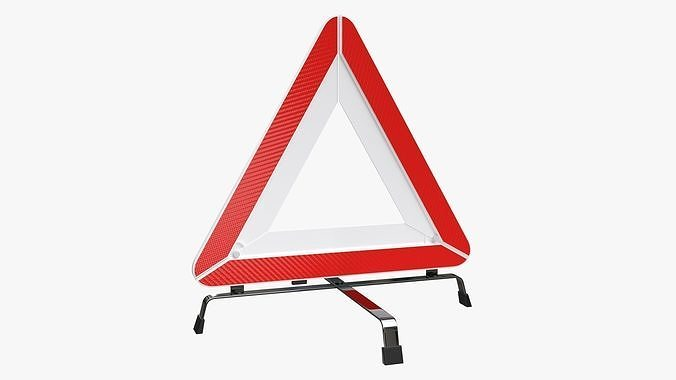 Emergency car sign white