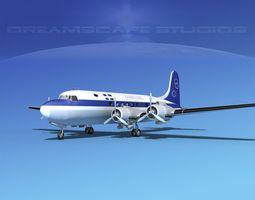 3D Douglas DC-4 Olympic