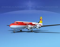 3D model Douglas DC-4 Transocean
