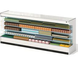 white grocary shelf 3d model