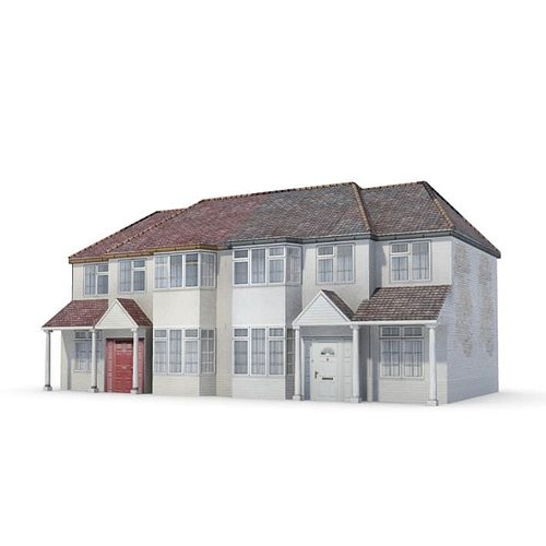 3d two story house cgtrader for Two story model homes