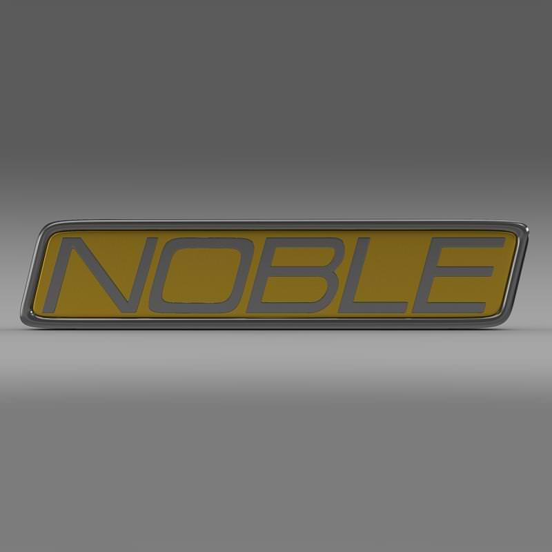 Noble Logo 3D Model MAX OBJ 3DS FBX C4D LWO LW LWS   CGTrader.com  Noble Logo 3D M...