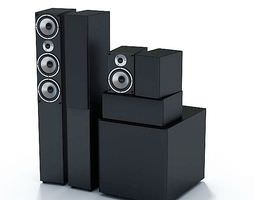 3d electronic system surround sound speakers