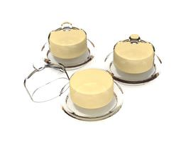 3d model glass covered cheese dish