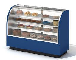 Bakery Display Storage 3D