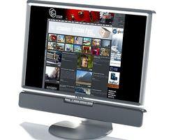 flat screen monitor 3d