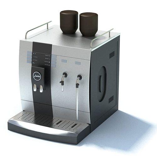 espresso coffee machine 3d model max 1