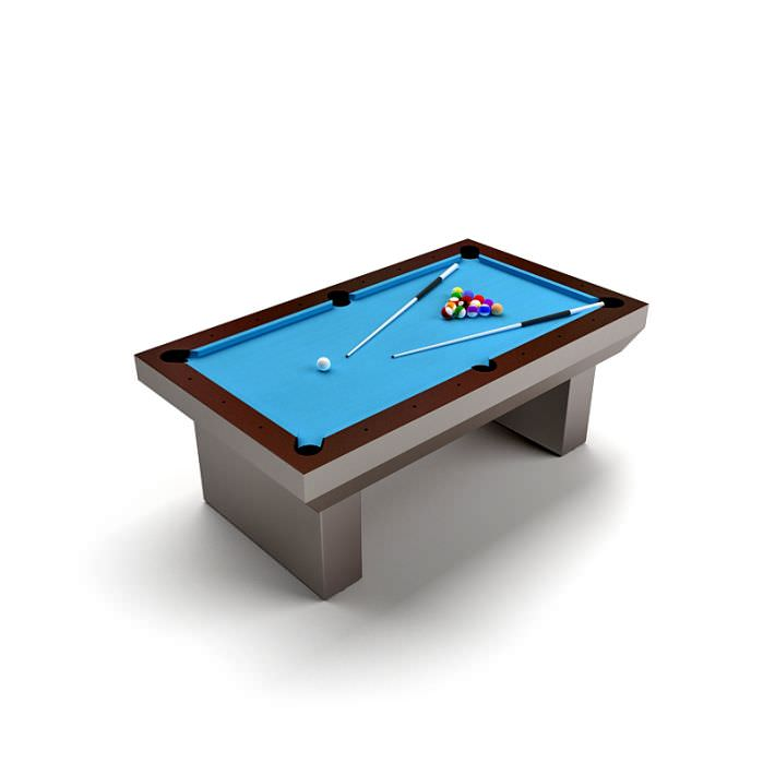 Blue Billard Table 3D Model  CGTradercom -> Model Table Tele