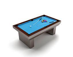 3D model Blue Billard Table