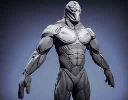 sci-fi male character 3d