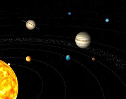 solar system animated 3d model