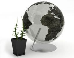 3D Home Decorations Globe And Plant