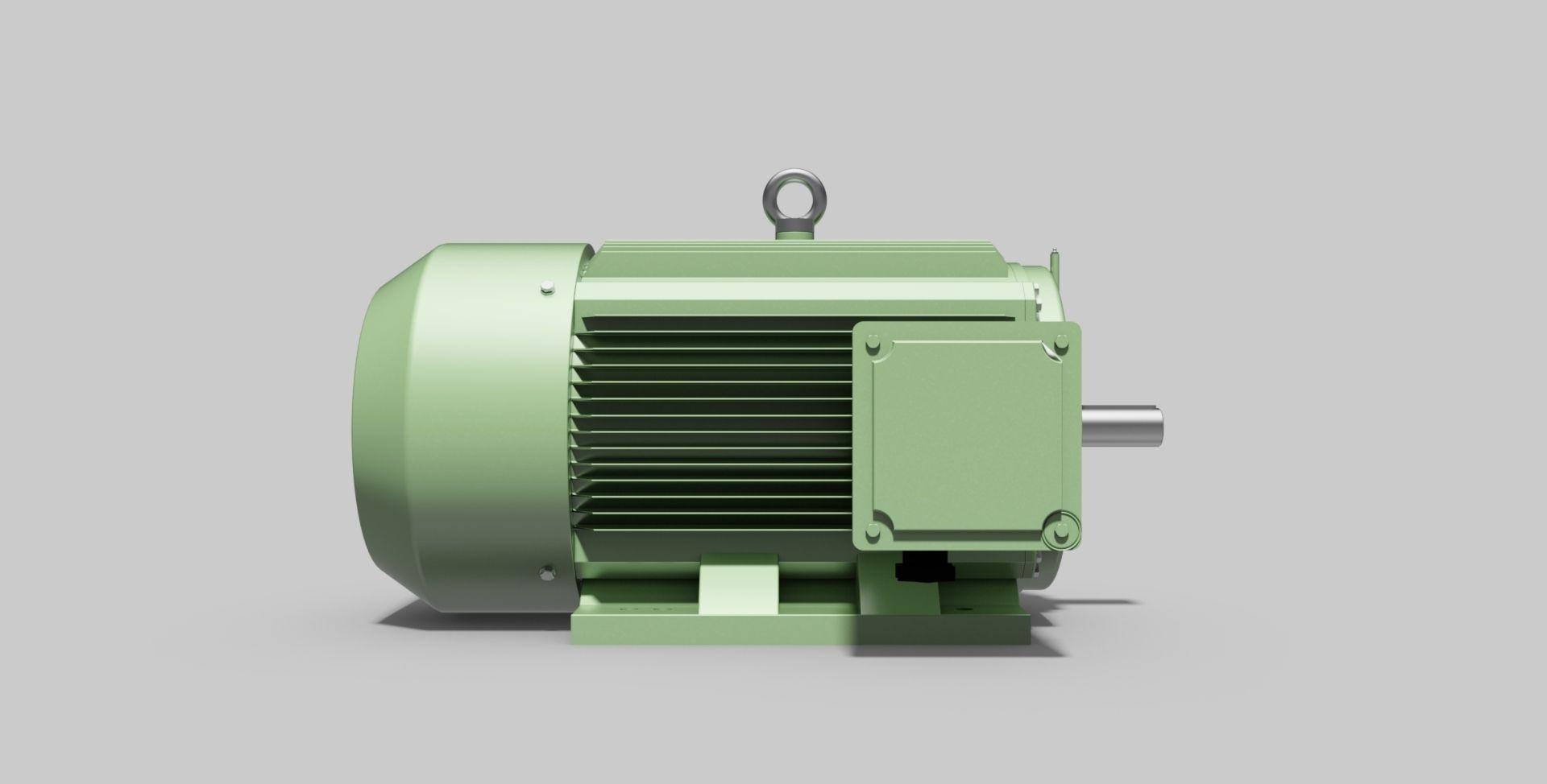 315M-B3 Left 2-Pole - Electric Motor - Free 3D CAD Model free 3D