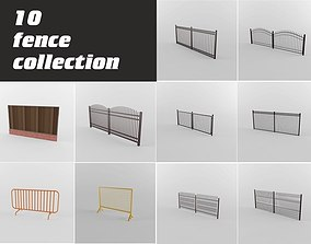 3D model fence collection