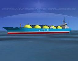 LNG Tanker Ship 3D