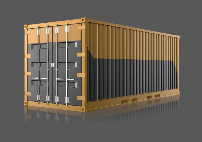 industrial container 3d model max obj fbx blend 1
