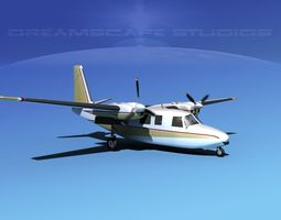 rockwell aero commander 560 v15 animated 3d