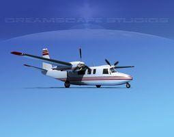 3D Rockwell Turbo Commander 690 V13