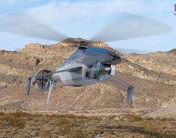 Sharkeye X Unmanned Helicopter 3D Model