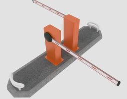 3D model realtime Road barrier
