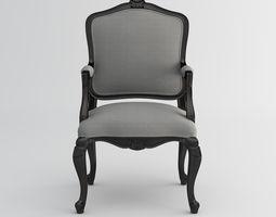 3D Louis armchair