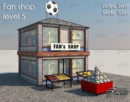 Fan Shop 3d model realtime