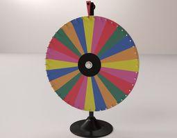 spinning wheel 2 3d model