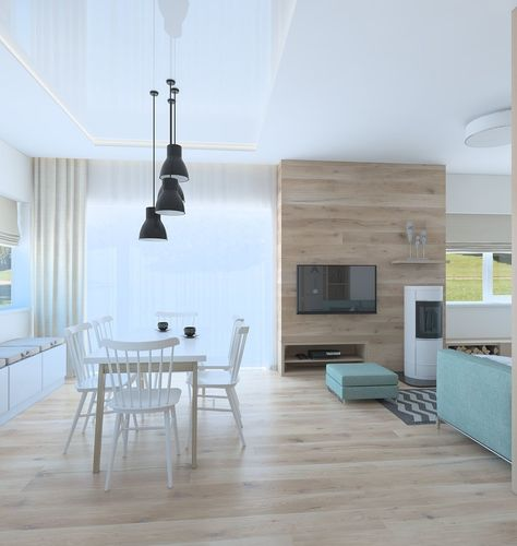 Beautiful living room whit kitchen 3D   CGTrader
